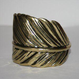 """Beautiful gold leaf cuff bracelet 7+"""""""